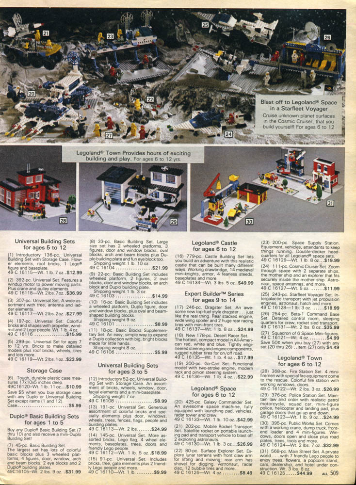 lego - Sears Christmas Catalog