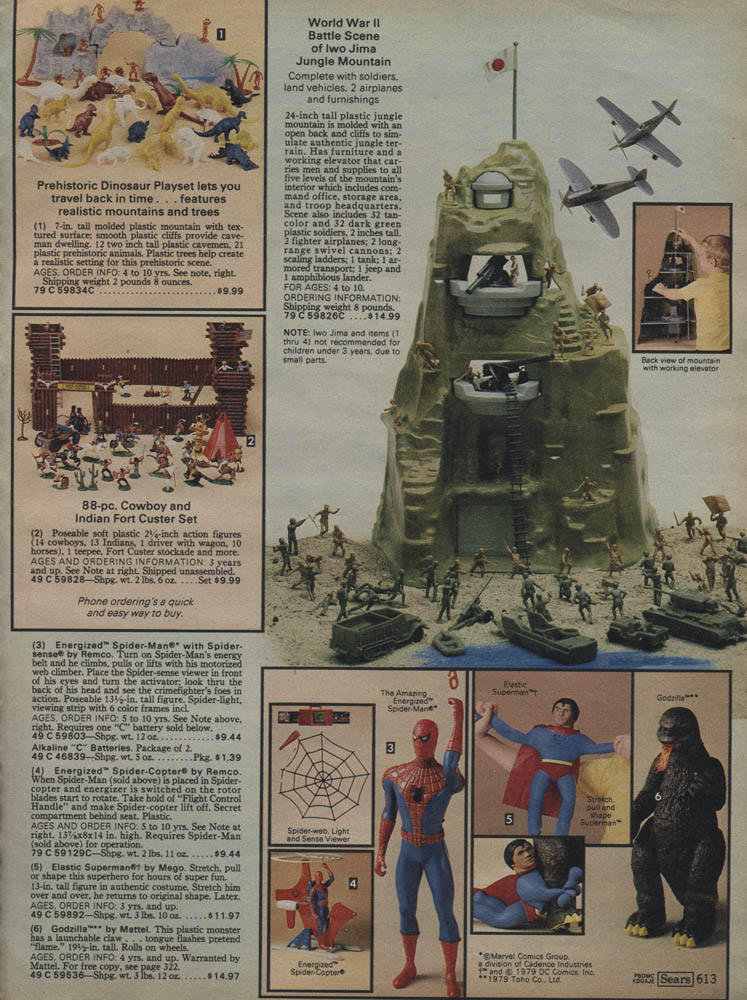 1979 Sears Christmas Catalog Marx Play Sets And The