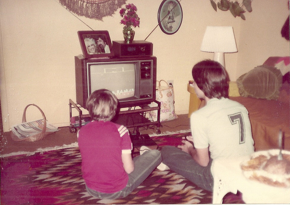 Living Room 1980 kids playing atari in living room, circa 1981 | 2 warps to neptune