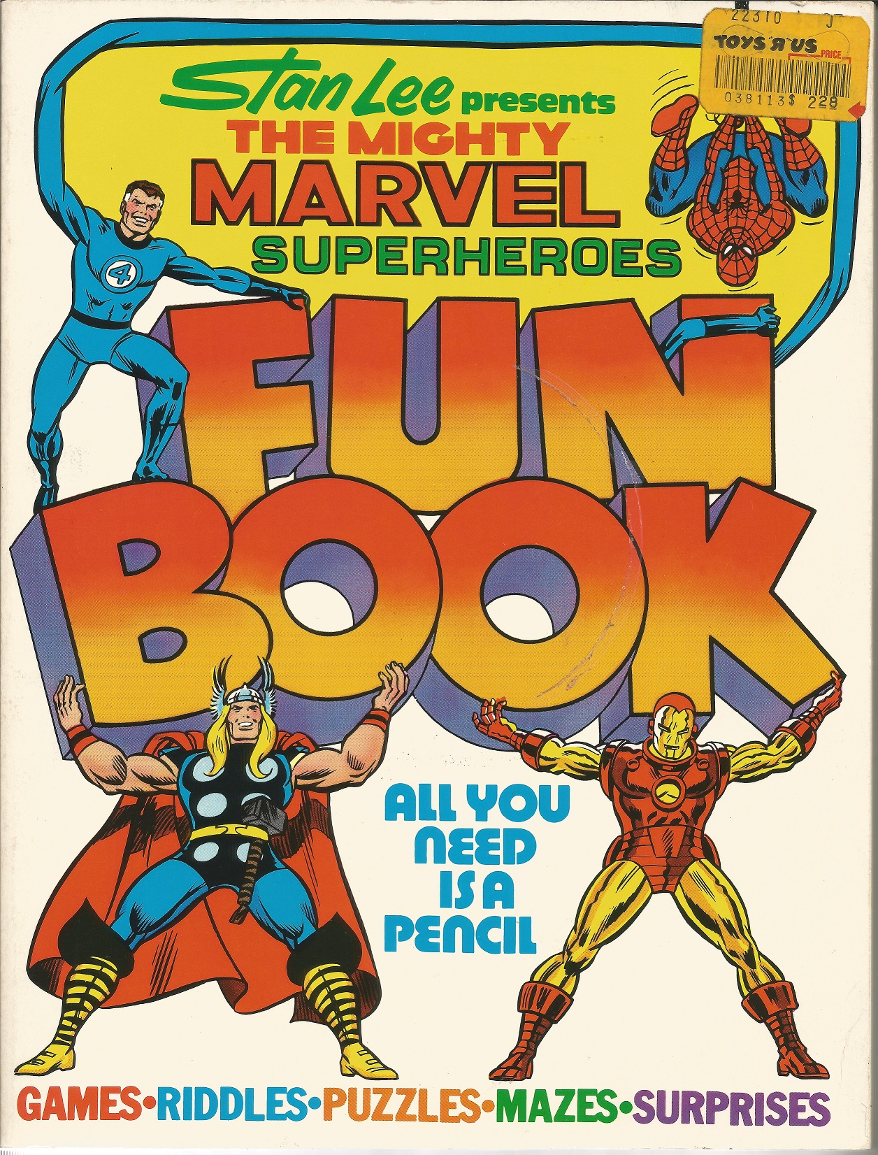 Marvel Superheroes Fun Book 1976 2 Warps To Neptune Sticker Activity Books My Big And Mighty
