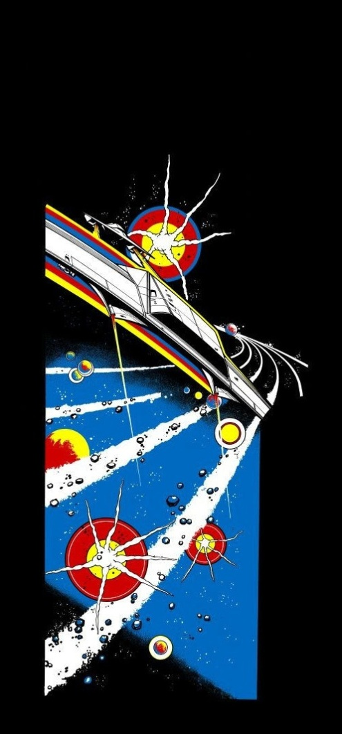 asteroids side art