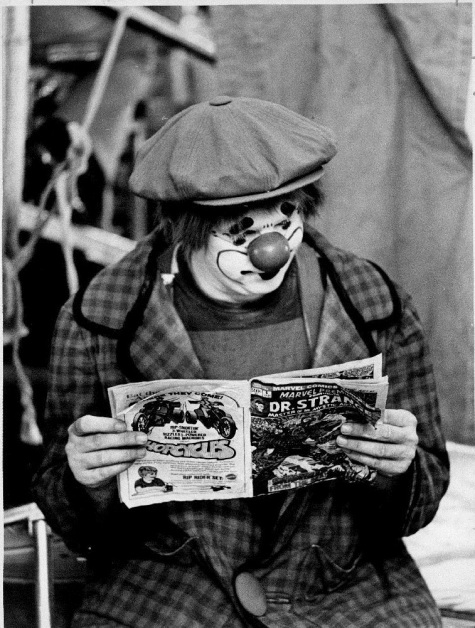 Clown Reading Comic 11-24-72