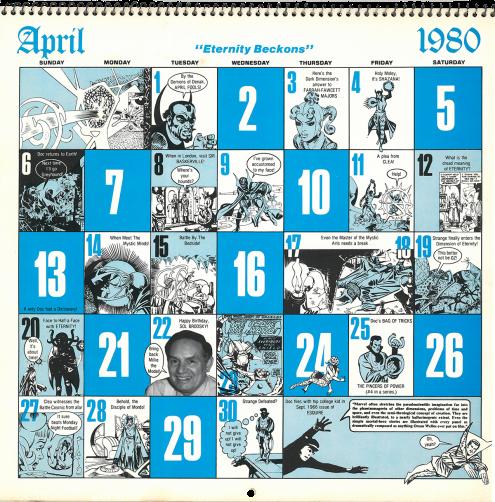 Doc Strange Calendar 1980 April-2