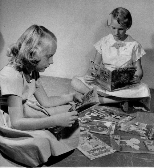 Girls Reading Comics 1957