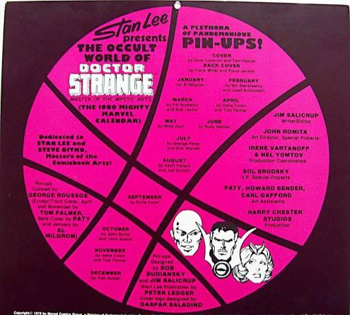 marvel calendar 1980 bc