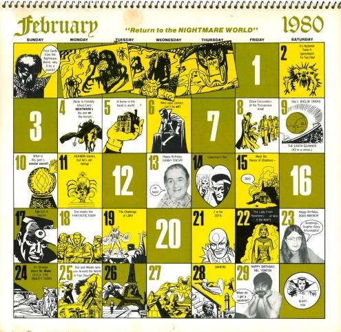 Marvel Calendar 1980 Feb-2
