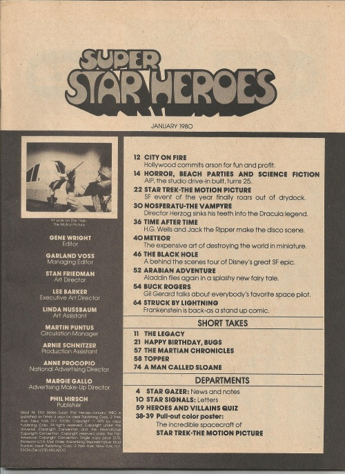 super star heroes #11 TOC