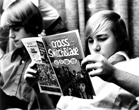 boy reading comic 1973
