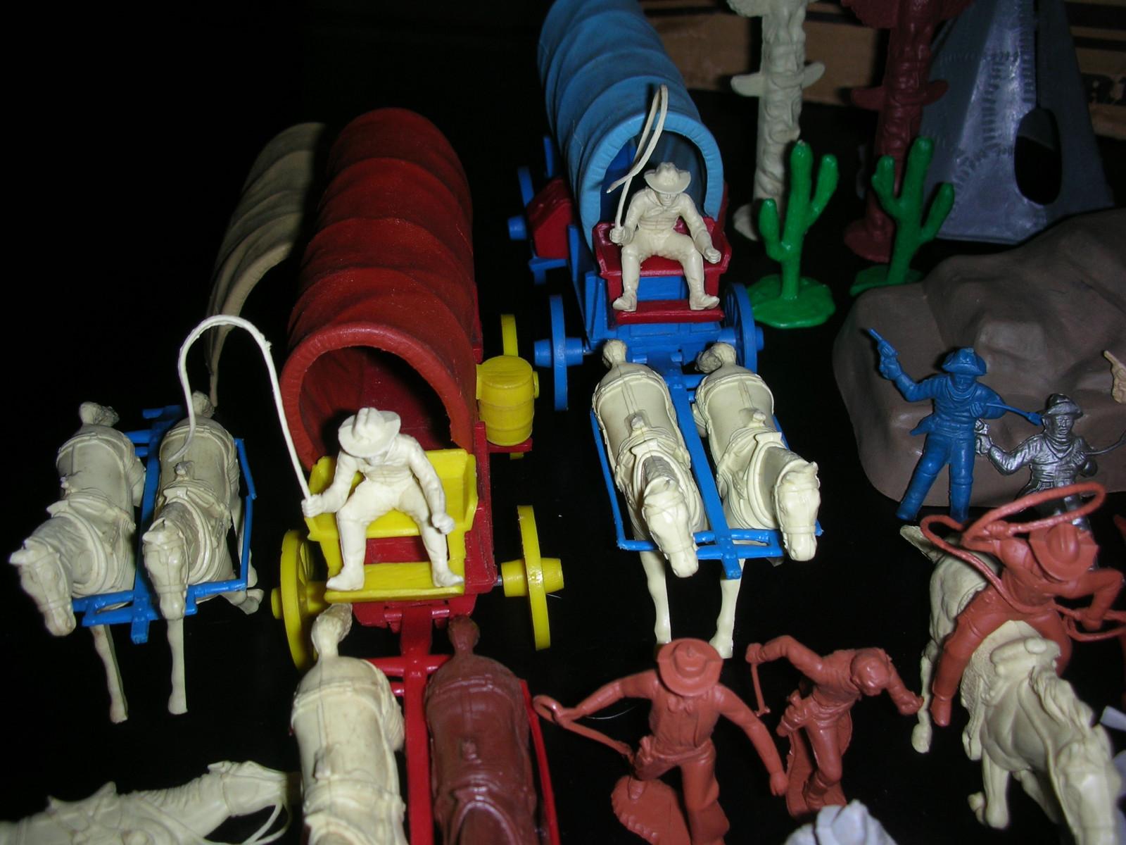 Marx toys wagon train play set