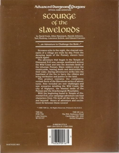 Scourge of the Slave Lords BC 1986