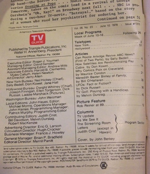 tv guide berkey 1978-2