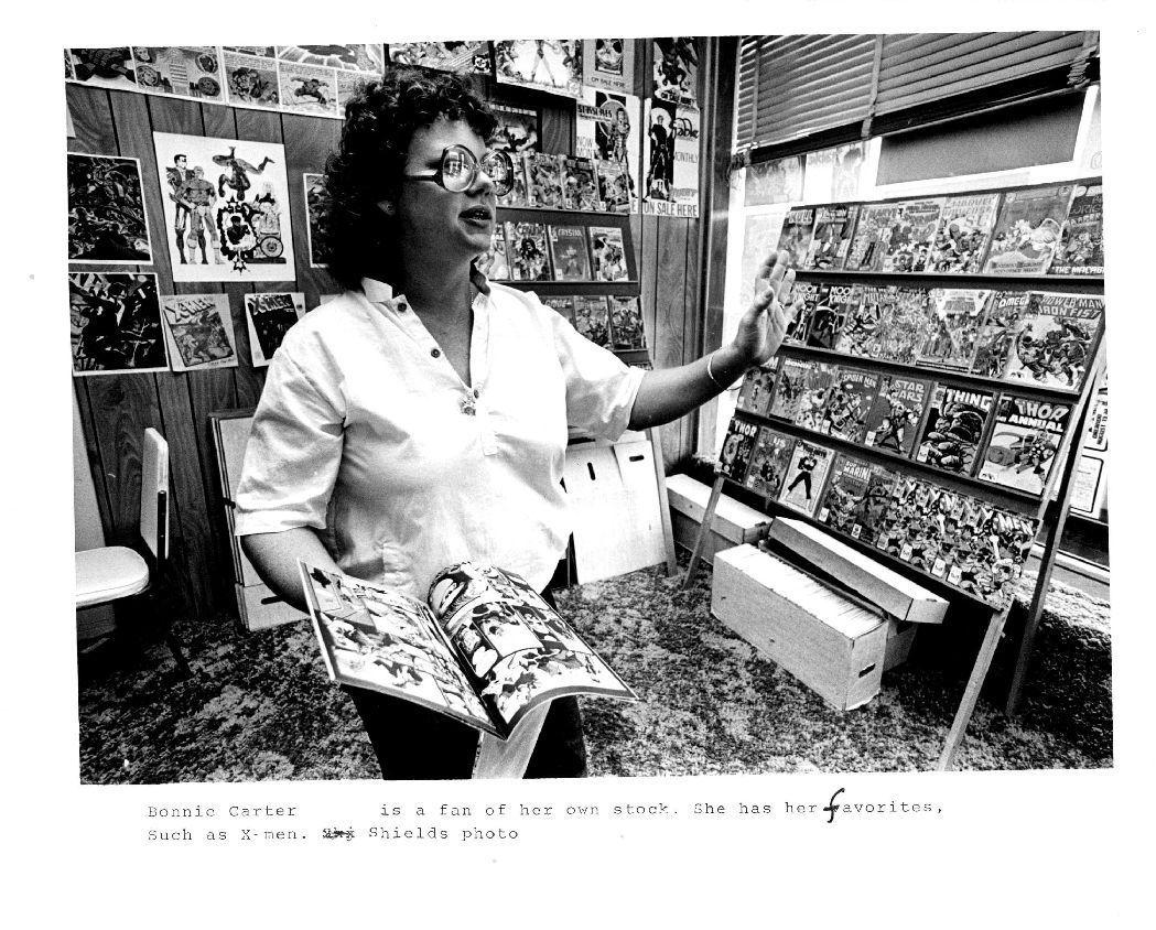 Comic Book Newspaper Comic Book Store 1983