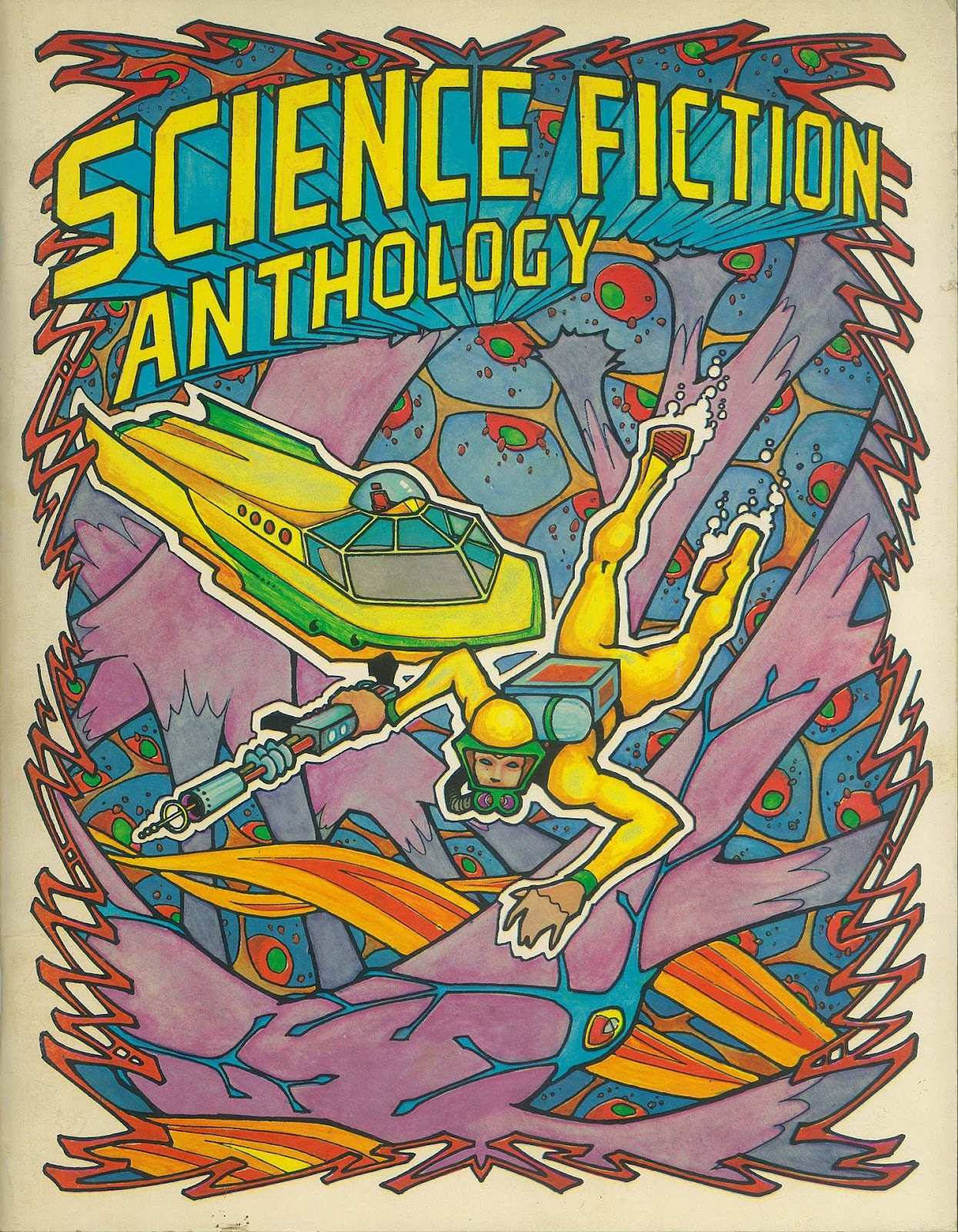 troubador press science fiction anthology  1974  and tales of fantasy  1975  coloring albums Space Theme Coloring Books  Sci Fi Coloring Book
