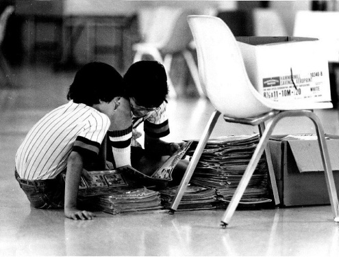 Boys Reading Comics 1981