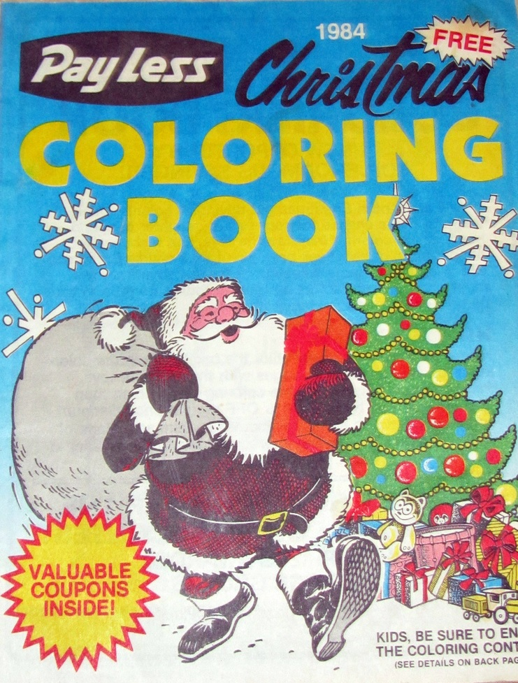 PayLess Christmas Coloring Book (1984) | 2 Warps to Neptune