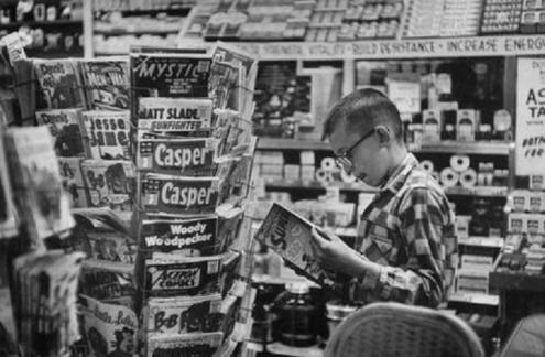 Comic Book Spinner Rack 1956