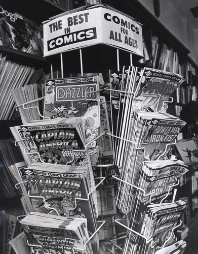 Comic Book Spinner Rack 1982