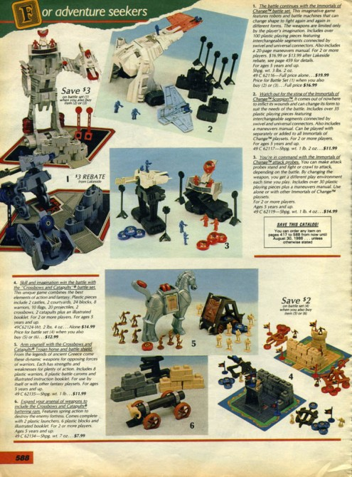 Immortals of Change Sears Catalog 1985