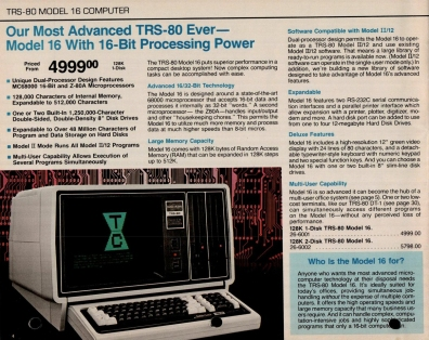 TRS-80 Ad 1983