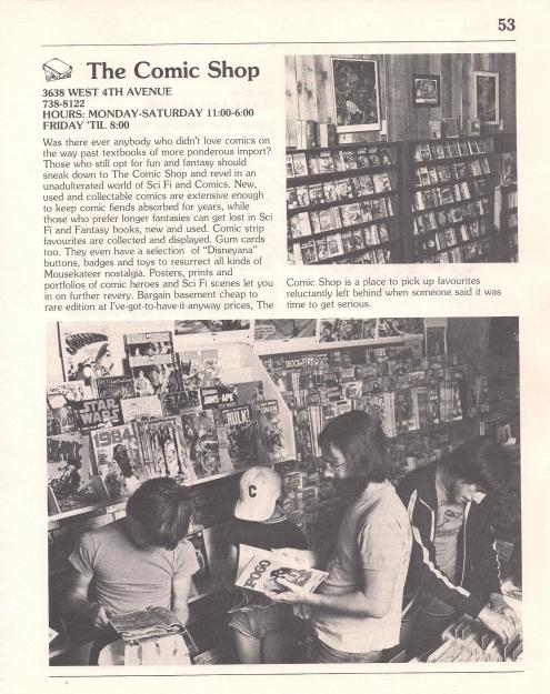 Comic Shop 1978