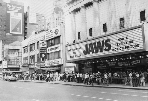 Jaws Marquee 1975