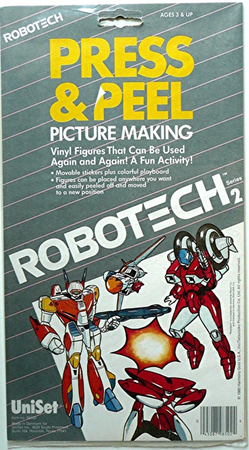 Robotech Press Peel 1985