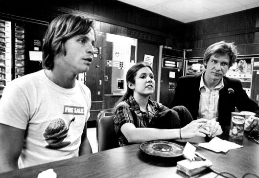 Stunning Image of Carrie Fisher and Harrison Ford in 1977