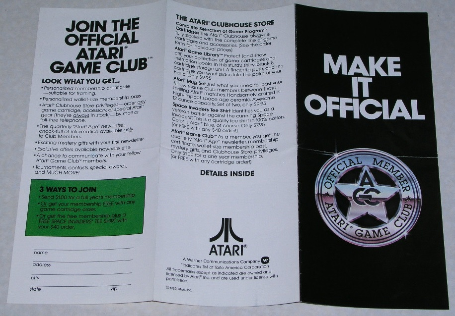 planet brochure template - atari game club brochure 1980 2 warps to neptune