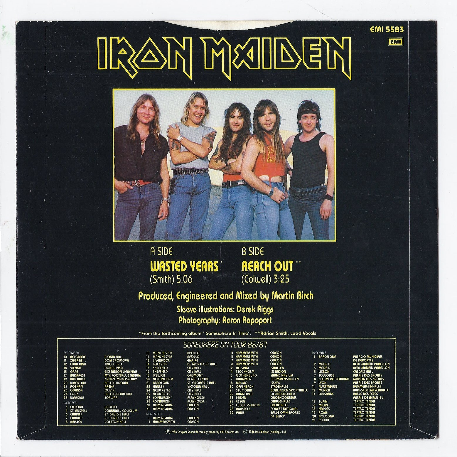 Album Covers Somewhere In Time By Iron Maiden 1986 2