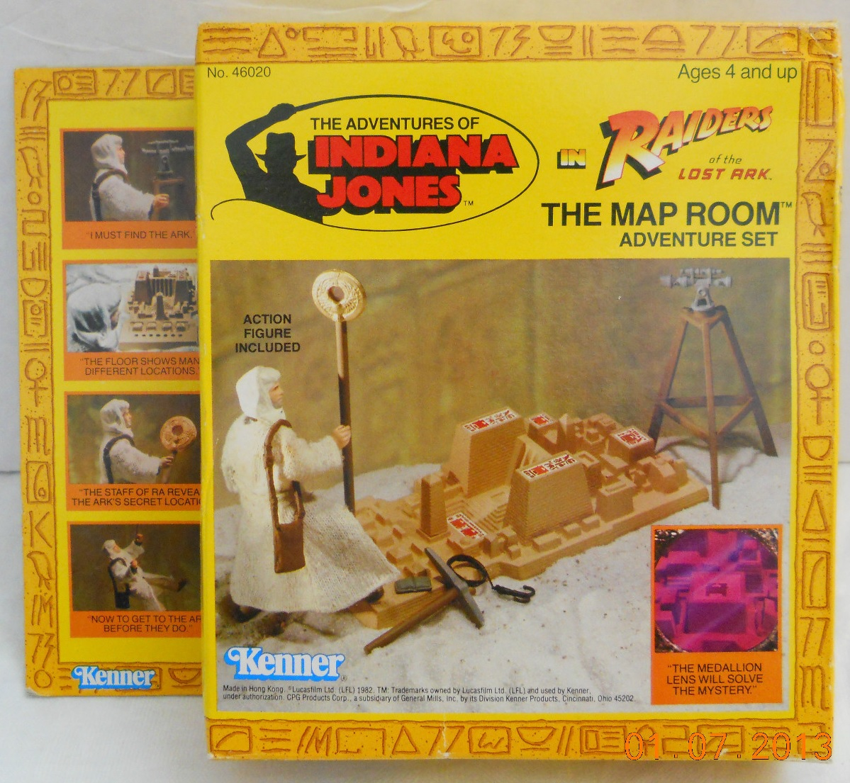 Kenners Raiders of the Lost Ark Toys Map Room Adventure Set 1982
