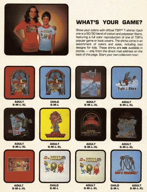 D&D Shirts 1981