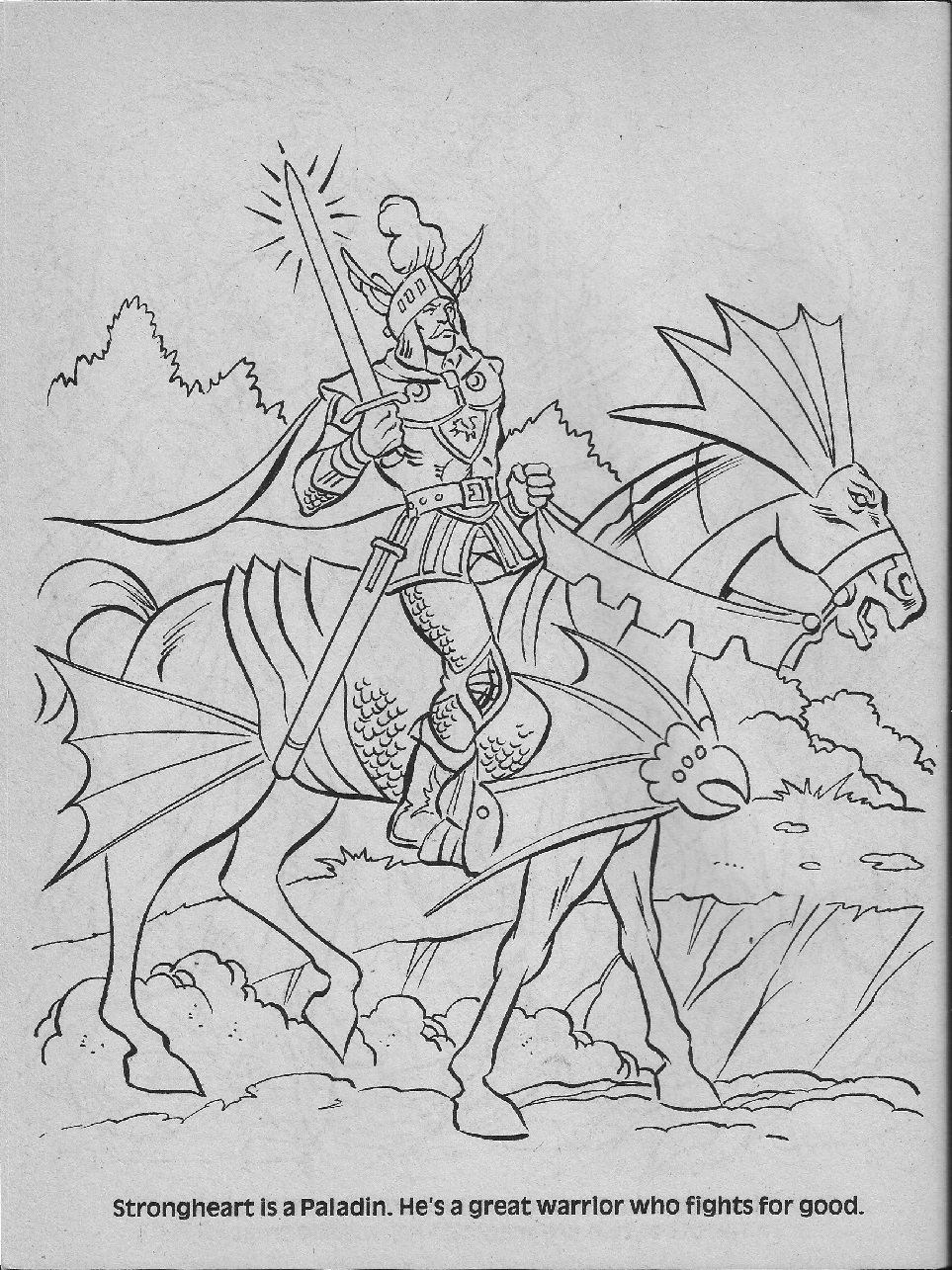 Advanced Dungeons & Dragons Characters Coloring Book (1983 ...