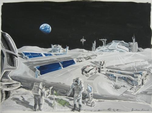 'Visions of Lunar Life': 2009 NASA Art Contest Winners