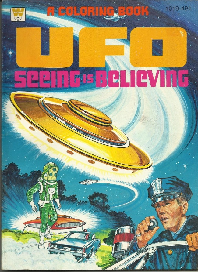 Whitman Coloring Books: UFO Seeing is Believing and UFO Space ...