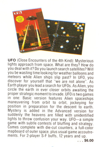 UFO Game Ad 1978