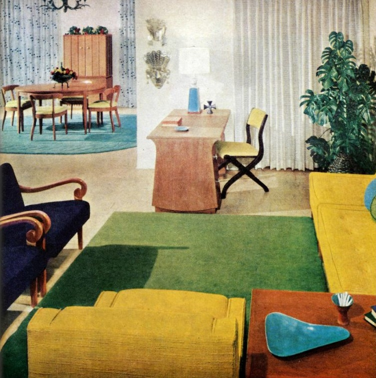 Better homes and gardens decorating ideas 1960 part one for Garden design 1960s