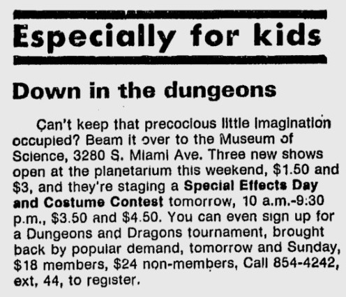 D&D Tournament 1982