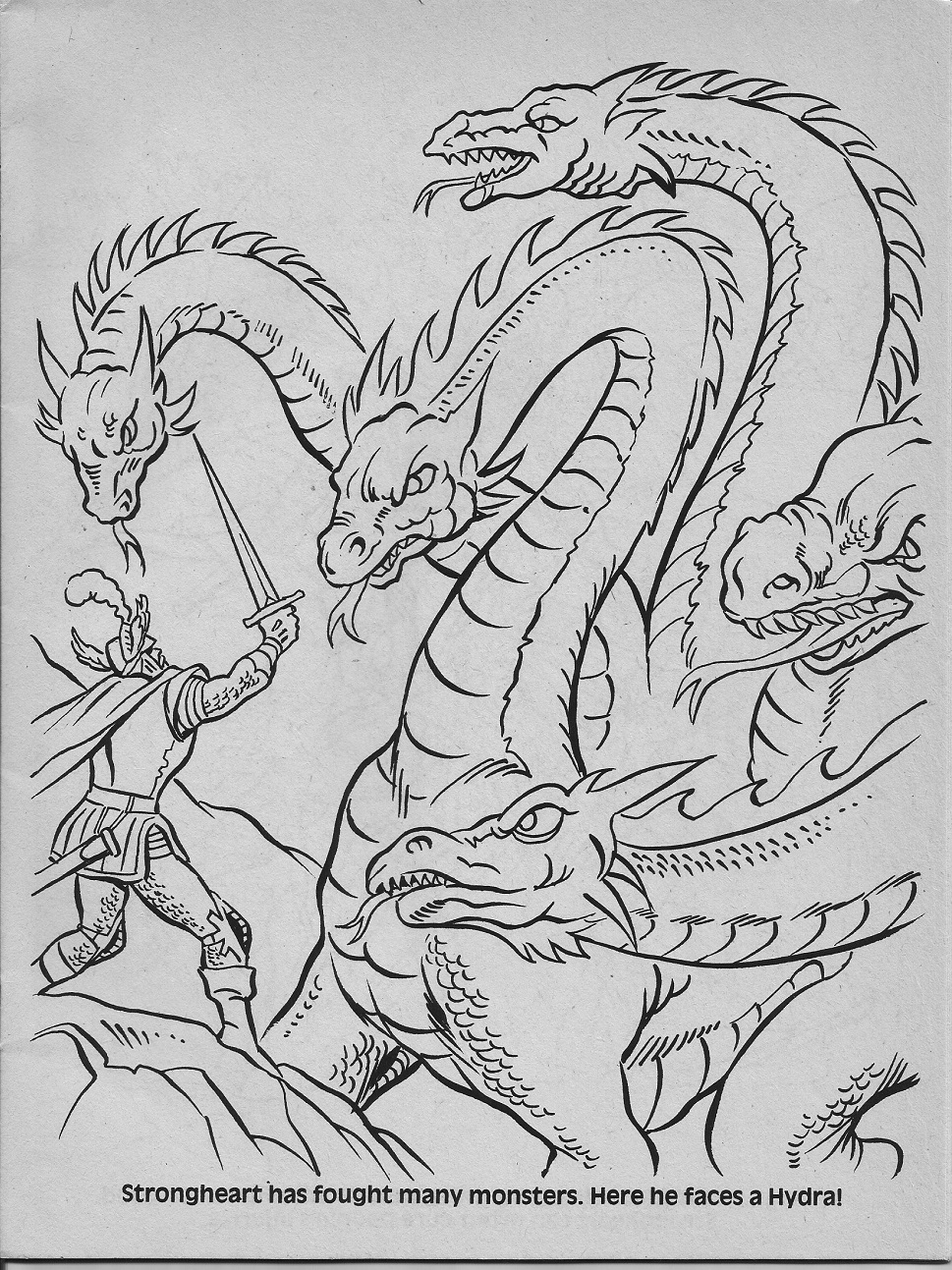 dungeons and dragons coloring pages - photo#6