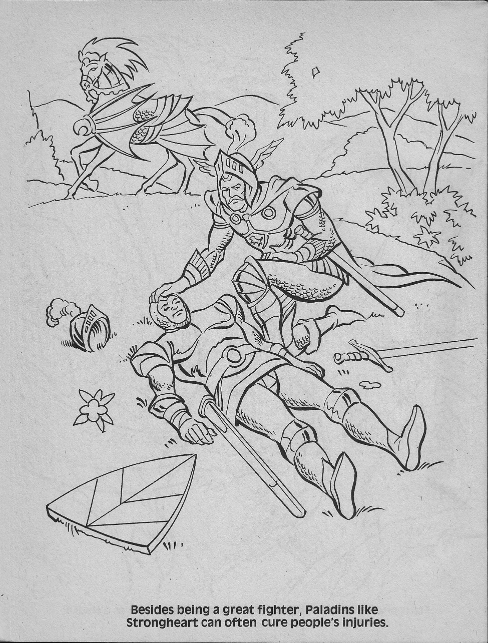 dungeons and dragons coloring pages - photo#20