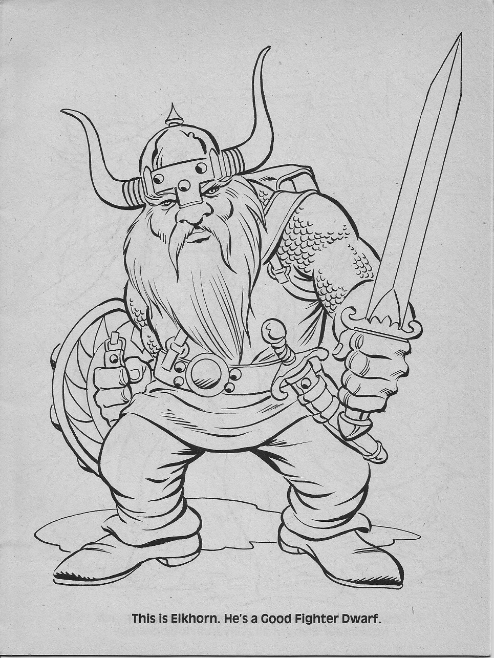 dungeons and dragons coloring pages - photo #27