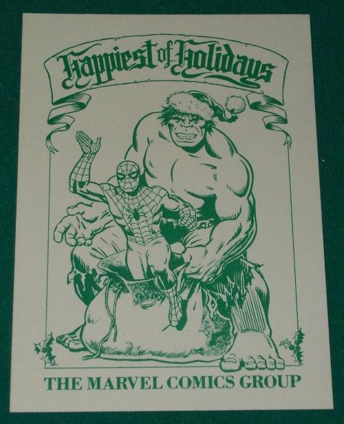 Christmas Marvel Card 1978