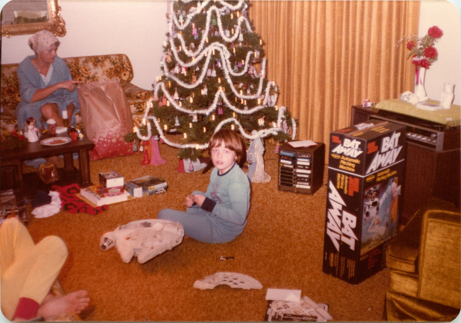 Christmas morning 1978 assembling the millennium falcon for 80s wallpaper home