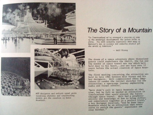 Space Mountain Orientation Book 1977-4