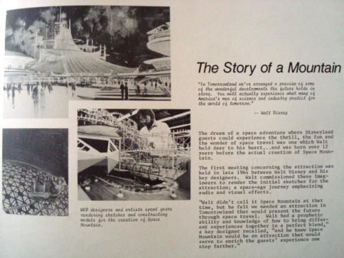 Space Mountain Orientation Book 1977-4