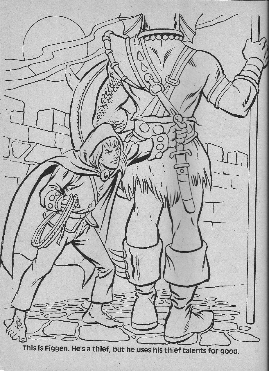 dungeons and dragons coloring pages - photo #17