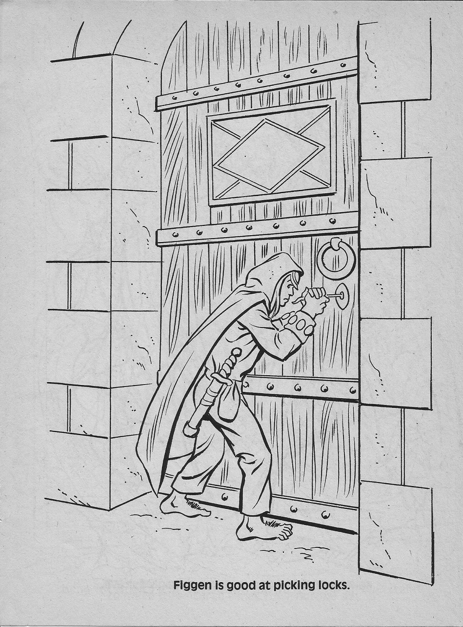 dungeons and dragons coloring pages - photo #35