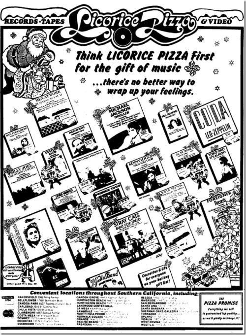 Licorice Pizza Ad 1982