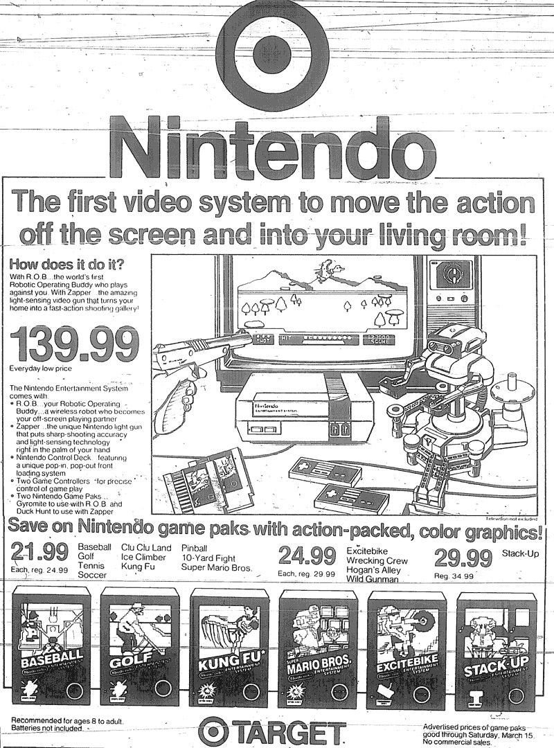Target and Toys R Us Nintendo Ads, 1986/1988 | 2 Warps to Neptune