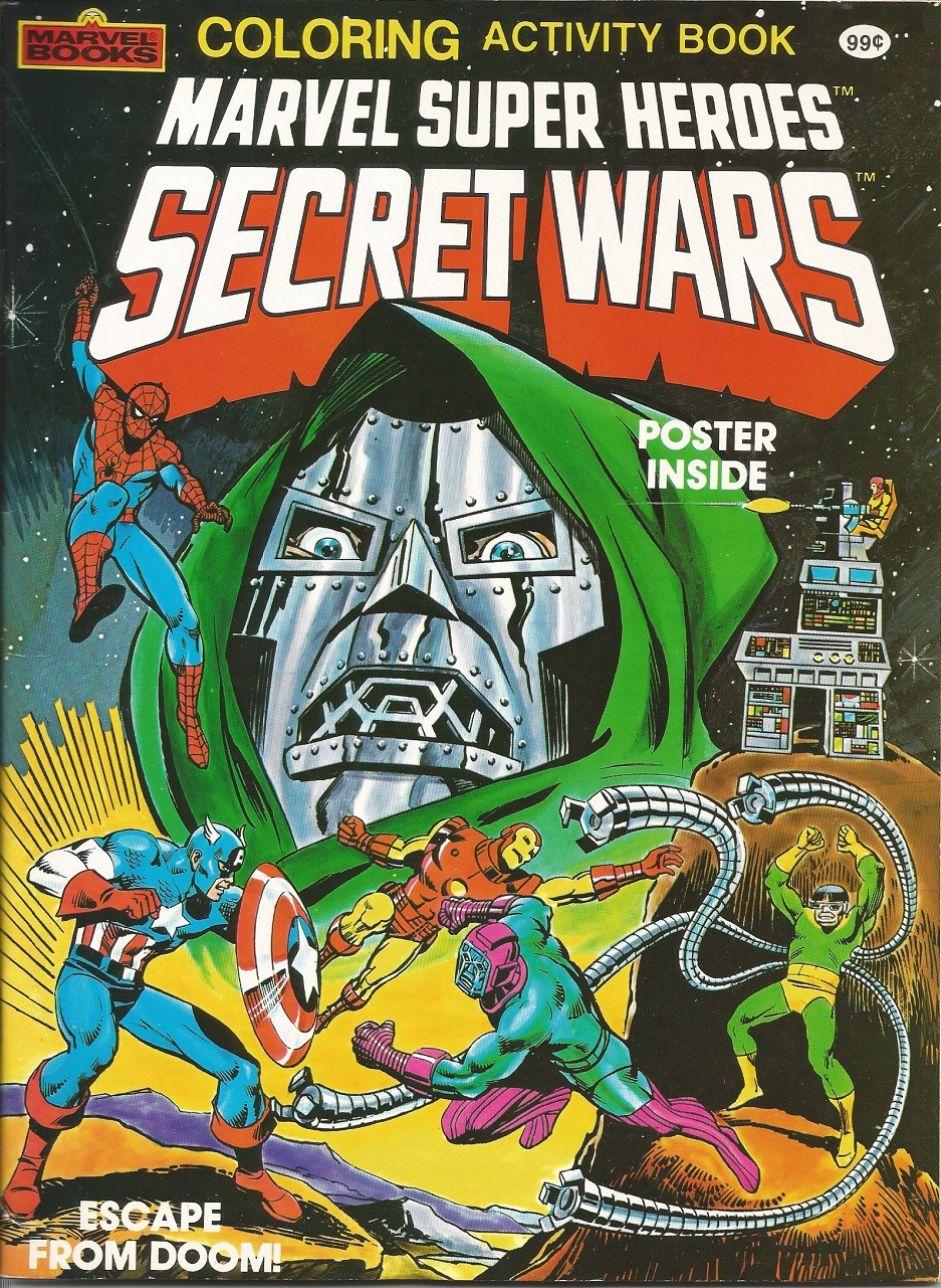 - Marvel Super Heroes Secret Wars Coloring And Activity Book (1984