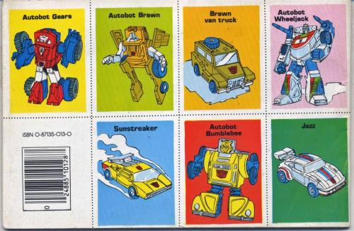 Transformers Stamps 1984-2